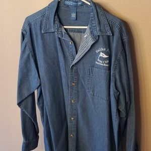 Long sleeve denim button down shirt